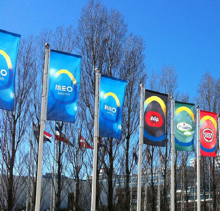 Colocación y duración de sus banderas